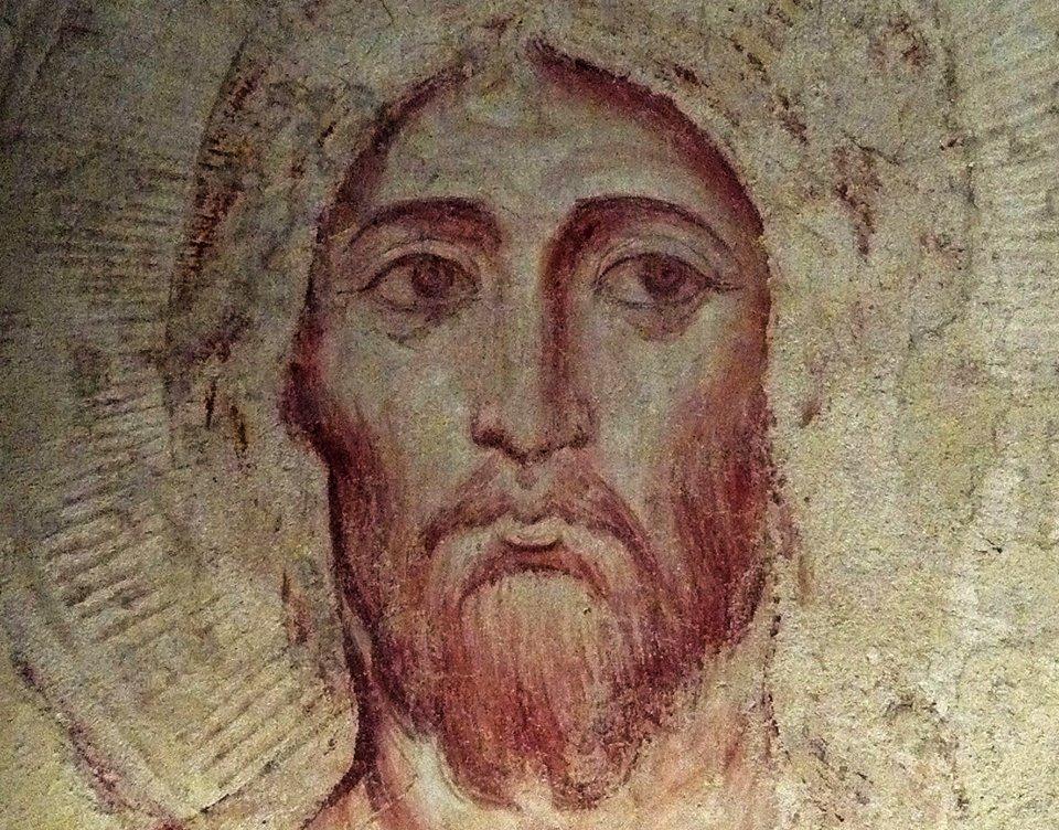 11 C. Pantokrator fresk z XIII w, Asyz, Jacobo Torriti (1)
